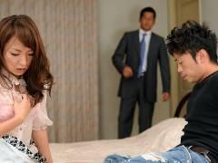 Hot Erika Hiramatsu gets shared by two guys