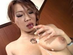 Misaki Asou best sloppy and messy BJ!