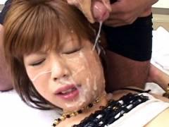 Miki Matsufuji hard screwing and bukkake